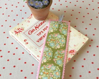 Tilda fabric bookmark