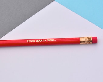 Once Upon A Time - Foil Pencils - Novelty Gift -  - Office Supplies - Back To School -  quote pencils
