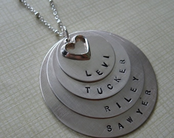 4 names/discs Mother's Necklace