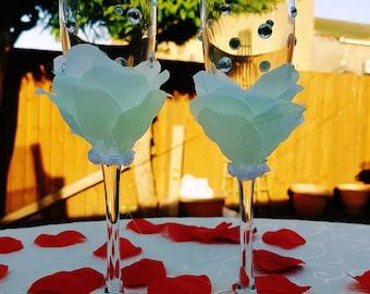 Flower Handmade Champagne Flute