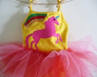UNICORN RAINBOW Leotard Tutu - Rainbow Tutu - Unicorn Tutu -  Personalized Tutu - Birthday Tutu