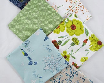 Six Piece Bundle, Fat Quarter or Half Yard Cuts  - Bountiful by Sharon Holland for Art Gallery Fabric