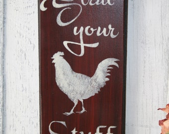 Rooster Sign, Strut Your Stuff, Rooster Kitchen Decor, Kitchen Rooster  Sign, Kitchen