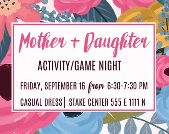 Mother Daughter Floral Invite