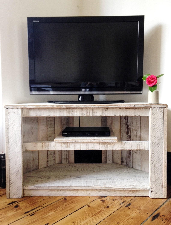 Fait La Main Coin Rustique Table Meuble Tv Avec Tag Re  # Meuble De Tv En Coin