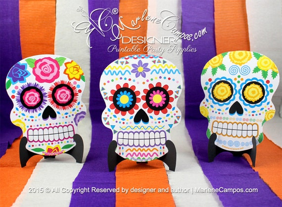 Sugar Skull Invitation Day Of The Dead Halloween Birthday - Day of the dead party invitation template
