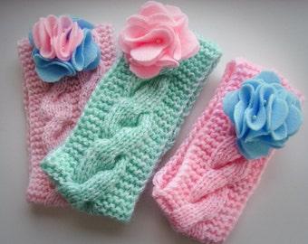 Knitted headband for little girl or women