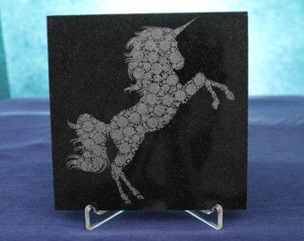 """6""""x6"""" Laser Engraved Granite Tile"""