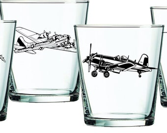 Military Aviation Whiskey Glasses, Gift for Pilot,  Rocks Glasses, Pilot Gift, Aviation Gift, Airplane Gift, Boyfriend Gift, Aviation