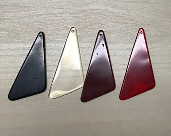 Triangle Glass Pendant - 50x24mm - (A)