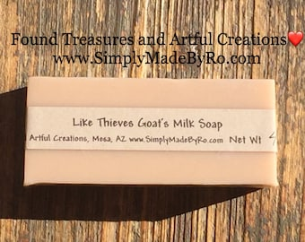 Our cinnamon clove lemon eucalyptus Like Thieves Goat's Milk Soap is great for this cold season!