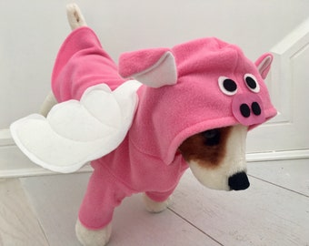 Flying pig costume- Pink piggy- Halloween costume by FiercePetFashion on Etsy
