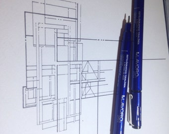 Architectural design. Sketche made for youe wall.