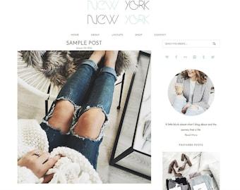 Responsive Wordpress Theme - Genesis Child Theme - New York Theme - Wordpress Blog Theme - Feminine Wordpress Theme
