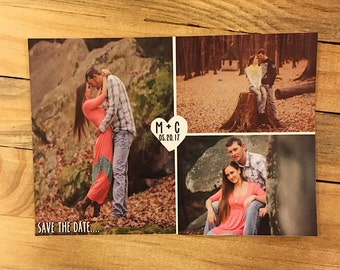 Save the Date with photos, vintage save the dates, save the date postcards