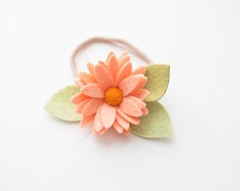 Baby Headband, Baby Flower Headband, Baby felt headband, Baby felt flower headband, Felt flower headband, Baby flower clip