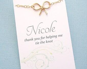 Bridesmaid Proposal | Personalized Bridesmaid Gift, Bridesmaids Bracelet, Bridesmaid Gifts, Maid of Honor Gifts, Bridesmaid Gift Box | BN02