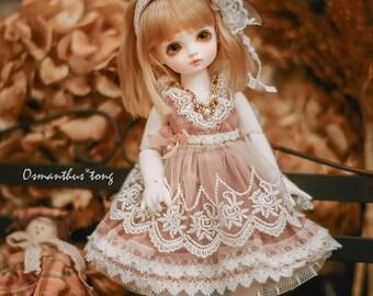 Queen Anne's Lace, dress for yosd. imda3.0 1/6 bjd (pale pinkish grey)