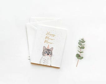 Birthday or New Year Cards: Happy MEOW MEOW!