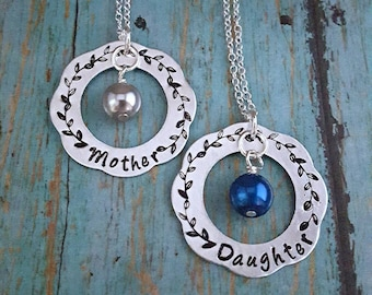 Mother Daughter Necklace Set - Mother Daughter - Mother Daughter Necklaces - Gift for Mother and Daughter - Mother Daughter Jewelry