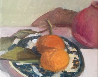 Clementines and pomegranate