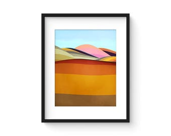 FOOTHILLS no.54 - Mid Century Style Modernist Abstract Landscape Print