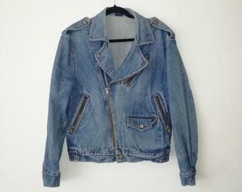 Vintage denim biker model jacket