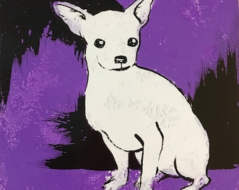 Chihuahua Pop Art Style Painting