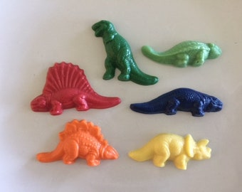 DINOSAUR Chocolate Cupcake Toppers(24 qty) Reptile Party/DINOSAUR Party Favor/T-REX Favor/Boy Birthday/Paleontologist/Triceratops/Dimetrodon