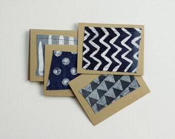 Kraft and Denim Cards set of 10