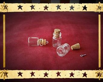 mini bottle shaped glass vial