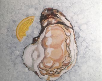 Oyster Original Painting Colorful Fun New Orleans Art