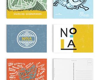 Set of 5 Nola Postcards - Digitally Printed Postcards