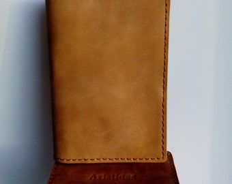 Leather passport cover,Passport cover Crazy Hors genuine leather,Passport cover,Leather cover,Passport cover.