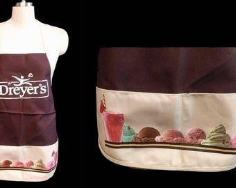 Dreyers Strawberry Shakes and Ice Cream Apron New Old Stock Never Worn vintage apron bib apron ice cream apron 90s apron summer apron