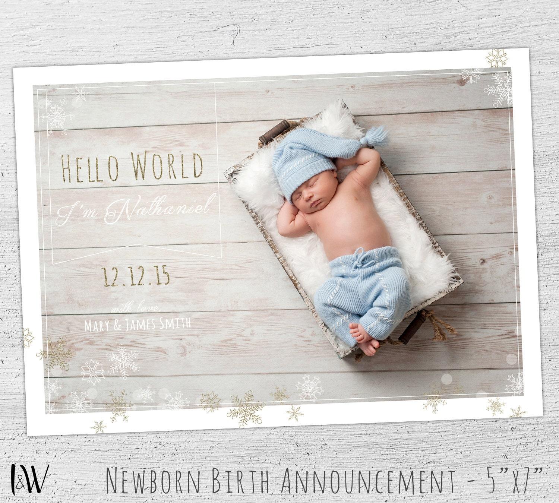 boy baby announcements