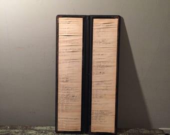 Antique Ledger - Antique Lumber Yard Order File - Leather Ledger