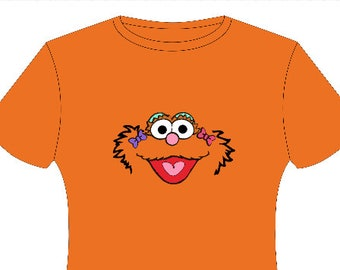 Zoe Sesame Street inspired T-shirt, MORE CHARACTERS AVAILABLE!