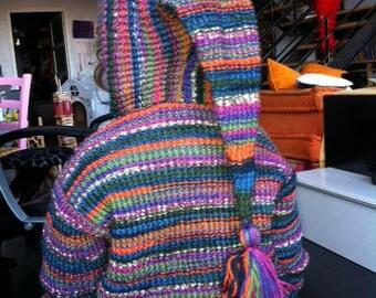 Pure Merino Wool hand knitted baby Cardigan