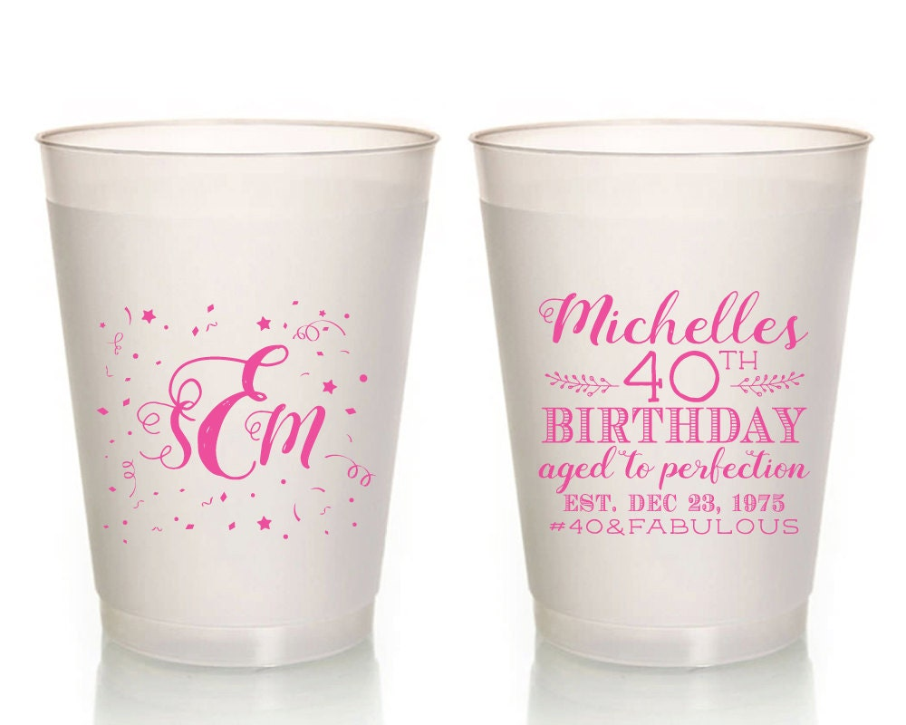 Birthday Party Cups Happy Birthday Party Cups Custom