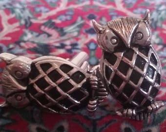 Swank owl cuff links