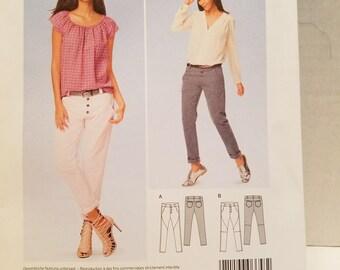 Burda Style Pattern 6658 pants US Size 8-18  New un-cut