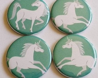 Unicorn Magnets, magical unicorn, festival set, kitchen decor, set of four