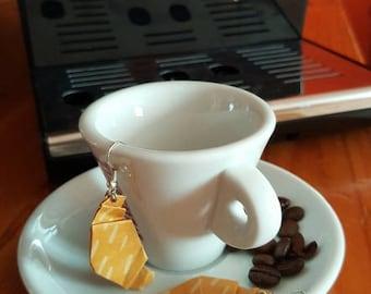 Earrings Croissant _ Origami Paper
