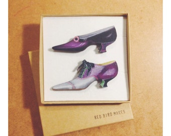 50 % OFF! Shoes Pin/Brooch Set of 2
