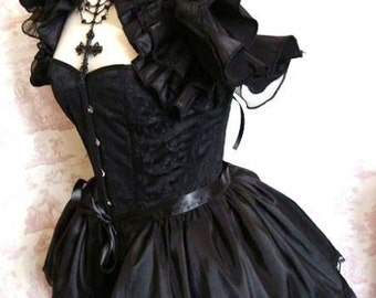 Plus Size ANGELIQUE Taffetta Bustle Skirt  STEAMPUNK GOTH