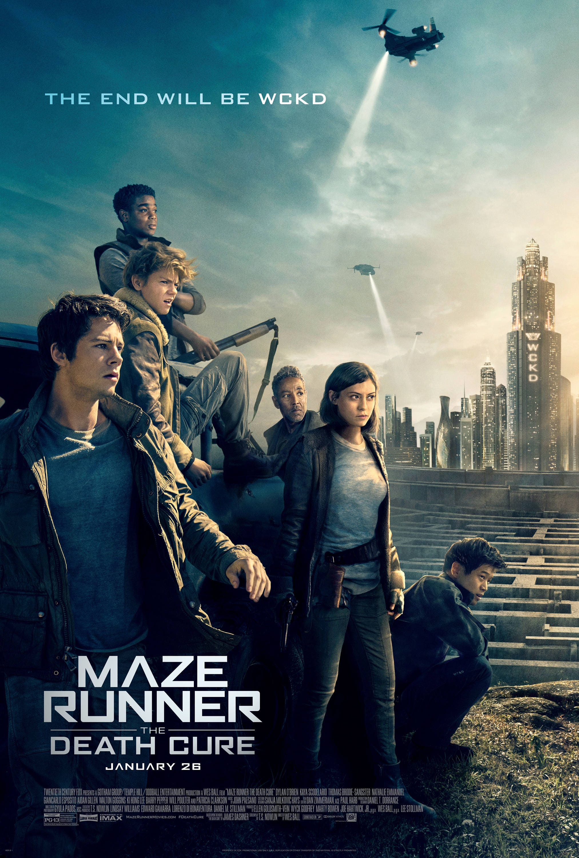 Maze runner death cure movie poster