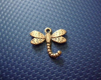 Hanger of charm zilveren 22 mm x 20 mm metalen dragonfly