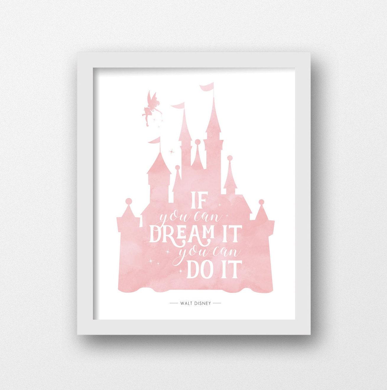Disney Schloss bedruckbar Walt Disney Zitat Disney Drucke