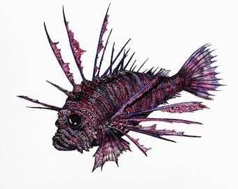 Psychedelic Lionfish